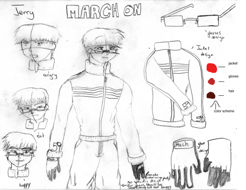 March On Design Jerry by *the-world-is-mine This is a design sheet for a character in the book I'm working on.