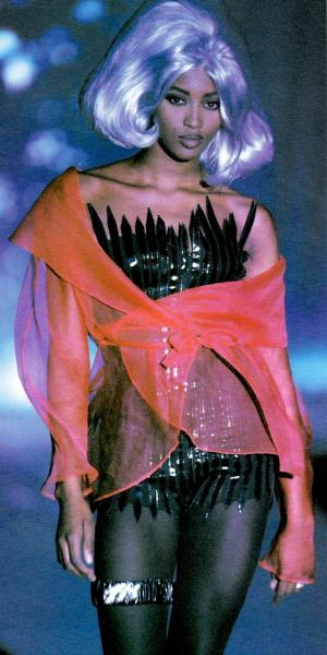 supermodelshrine:  Naomi for Thierry Mugler, f/w 1990/91