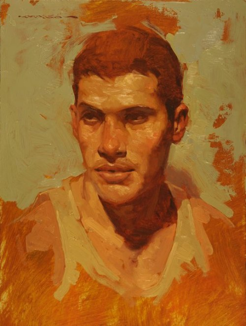 "mydreamartcollection:  Joseph Lorusso ""Boy Study"" 12""x9"""
