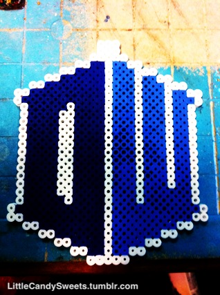 Dr who logo in perler beads