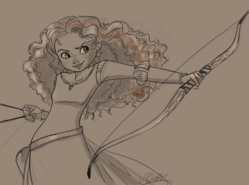 My Princess Merida sketch WIP