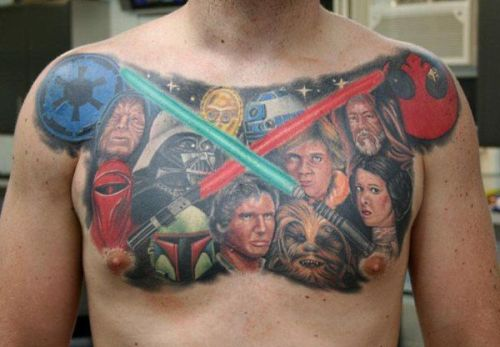 EPIC Star Wars Tattoos! See more and may the force be with you.