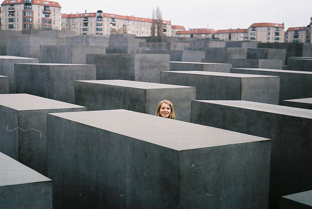 MEMORIAL TO THE MURDERED JEWS OF EUROPE on Flickr.jewish memorial in berlin. if a memorial can ever be successful (how do you measure success?) then this one is. Whenever I go there I am taken by it. as I walk in between the undulating stelae I am at once alone in the city.
