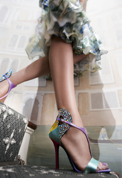 neimanmarcus:  Shop The Shoe & Handbag Event. On now.   Colors of the wind!