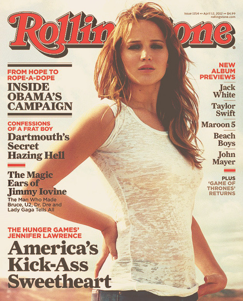Jennifer Lawrence covers Rolling Stone magazine.