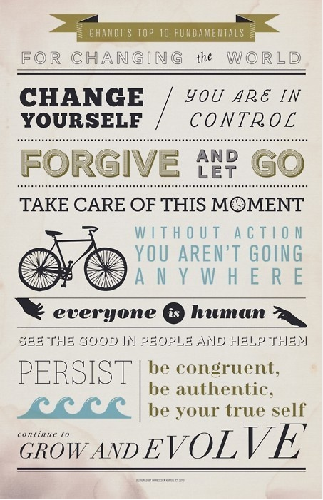 Gandhi's 10 fundamentals (would love to credit the artwork … if you know who, please let me know!)