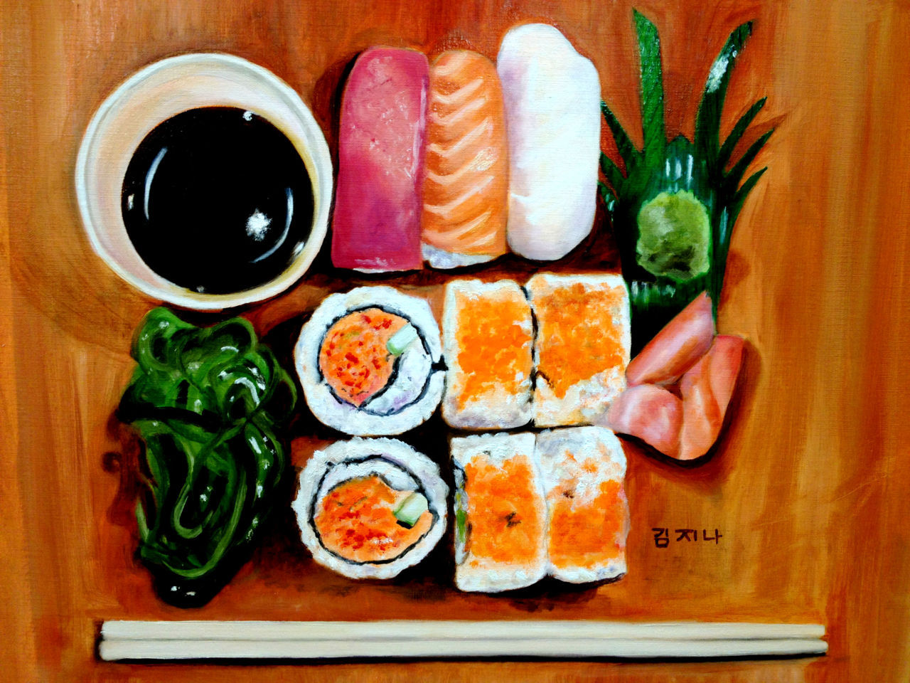SushiOil on Canvashttp://myth-milk.tumblr.com/
