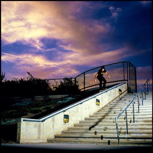 JT Aultz. Backside 50-50 San Diego, Ca. Yesteryear. Photo: @bigreel #staffcrops (Taken with instagram)