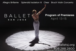 If you've visited www.balletsj.org in the past few weeks, you know that choreographer Jessica Lang has been kind enough to let us use Takao Komaru's photo of Kana Kimura in SPLENDID ISOLATION III (see also: our FB cover photo!) in our marketing efforts. But starting today, our home page displays this gorgeous new photo by Chris Hardy, featuring BSJ Principal Alexsandra Meijer in 'Splendid Isolation III.' We absolutely love it. What do you think? :)