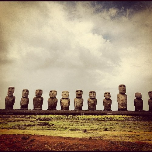 #moai  #easterisland  #rapanui  #tongariki (Taken with instagram)