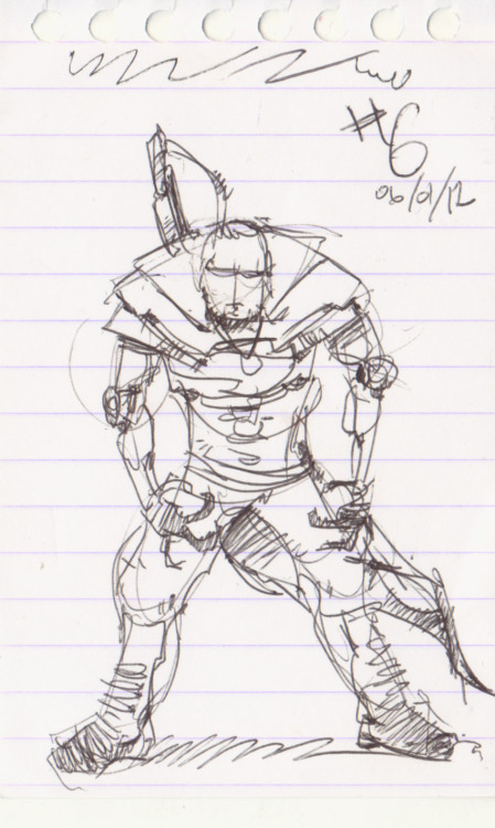366agogo #6 - January 6th 2012 Kind of a quick sketch design of a warrior dude. Best to get those thoughts out on paper.