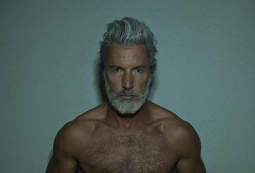 You know, I'm kinda digging this silver fox. He looks like he's got some fantastic hair, I just want to run my fingers through it. Plus, there's a nice beard AND not an overwhelming forest (but a good amount) of chest hair. Hmm. I do believe this might work. Triple bonus points if he had an accent. Chloe, get out of the beard tag. You have work to do.