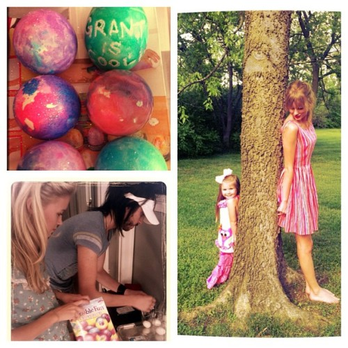 "@taylorswift13: ""Easter-ness with @clairecallaway and @grantmickelson."""