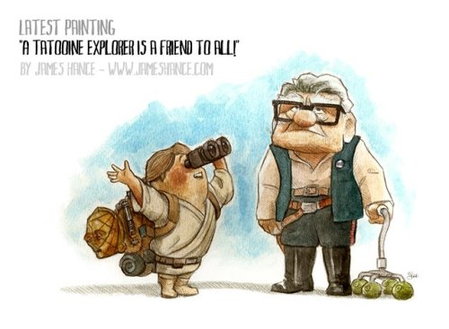 yoruhana:  'A Tatooine Explorer Is A Friend To All!' | James Hance Prints available at:http://www.jameshance.com/ (US / Canada)http://www.jameshance.co.uk/ (UK / Europe)