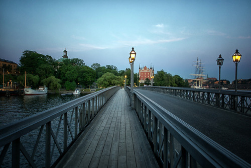 The Skeppsholmen Bridge in Stockholm by joeriksson on Flickr.