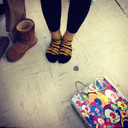 #kidrobot #uggs #tigersocks (Taken with instagram)