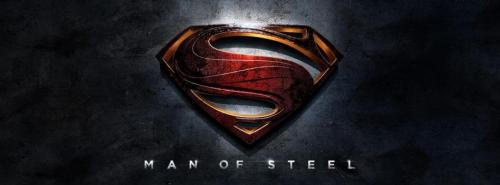New Banner and Logo for MAN OF STEEL