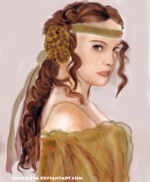 Last year I made a portrait of Padme Amidala. I did this pretty quick (30 minutes).