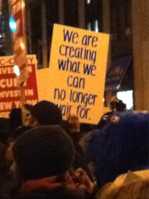 """we are [co]creating what we can no longer wait for"""