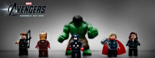 Avengers LEGOs!!! Ahhh!!! Me wants them!!! They assemble just in time for Marvel's The Avengers to hit the theaters too!