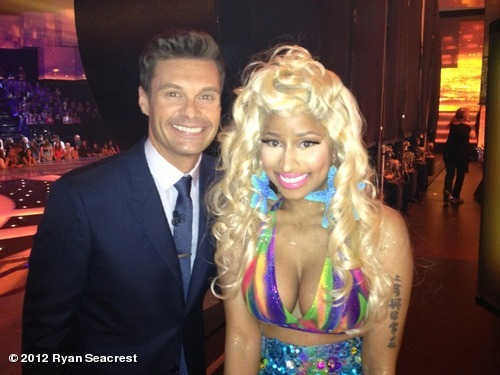 Nikki on American Idol with Ryan Seacrest Did you see J-Lo tell Nikki there was no space for her at the judge's table?! LOL!!