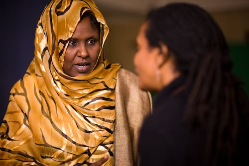afrikanwomen:  Asha Haji Elmi is a peace activist from Somalia. She won the Right Livelihood Award (known as the alternative Nobel Prize) in 2008, with three other activists from India, USA and Germany. In September 2009, she was one of five recipients of the Clinton Global Citizen Award. She has a degree in economics from Somalia National University and holds a Master of Business Administration from the US International University in Africa. When women were excluded from the peace process in Somalia (which involved the five traditional clans), she formed the Sixth Clan movement to win a seat at the table. She was selected to the Transitional Federal Parliament (TFP) of the Republic of Somalia on August 29, 2004, and will serve until 2009. She is also the founder of Save Somali Women and Children (SSWC), created in 1992 during the height of the Somali Civil War. Asha has been acknowledged internationally for her activism against female genital mutilation (FGM) in Somalia and in other areas of Africa. She frequently travels to college campuses and universities around the world giving speeches about the political conditions in Somalia, FGM and the resulting effects on Somali women.