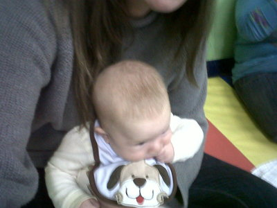 A picture of a thing that makes me happy: a baby on my lap. About 20 minutes later, I'd put this baby to sleep, and I was reminded that there is very little in the universe that feels as good as an infant sleeping on my chest.