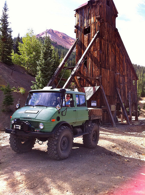 Love the old 416 Unimog. If you are looking for a real off-road truck get a Mercedes Benz Unimog, they've been around since 1950. Beats a Hummer anytime.