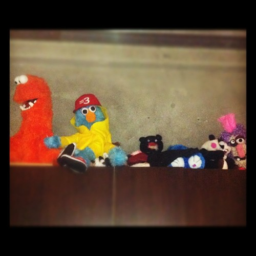 Puppet shelf at Maker. (Taken with Instagram at Maker Studios)