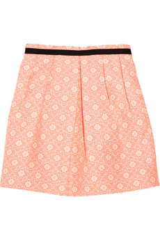 Joyeuse patterned cotton-blend skirt