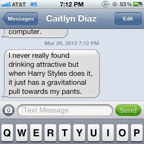 Checking messages on my 10. @caitlynydg @yojanel @Harry_Styles (Taken with Instagram at Foreign Exchange)