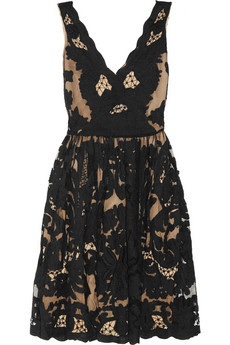 Collette by Collette Dinnigan lace appliqued tulle dress