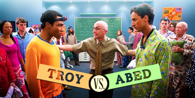 sophisticatedhumor:  The greatest battle in television history.