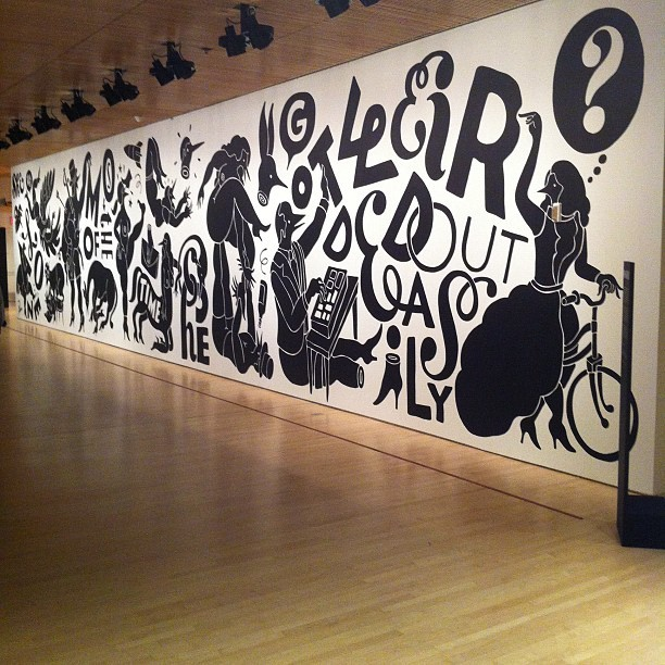 "New commissioned mural ""weirded out"" by artist Parra.  #parra #art #sfmoma #mural  (Taken with Instagram at San Francisco Museum of Modern Art)"