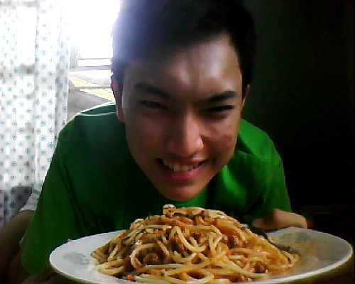 Spaghetti for brunch. :)