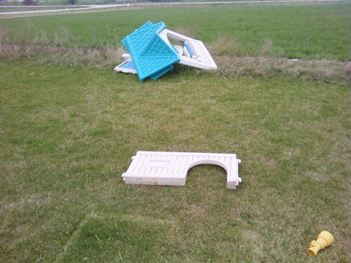 My daughters lost their house in a wind storm this past week.