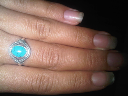 Early Birthday present from Miss Madeleine - Turquoise & Silver Indian Ring … Feeling like a very lucky girl :)