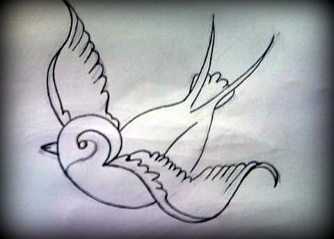 Outline of a traditional swallow.