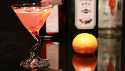 THE EASTER BUNNY 1oz clementine vodka or the oriental apple 1oz  Pomegranate Juice Cranberry juice Tonic Water or equal parts of the vodka and pomegranate. throw into a martini or low ball glass. splash of cran and tonic on top. no shaking.