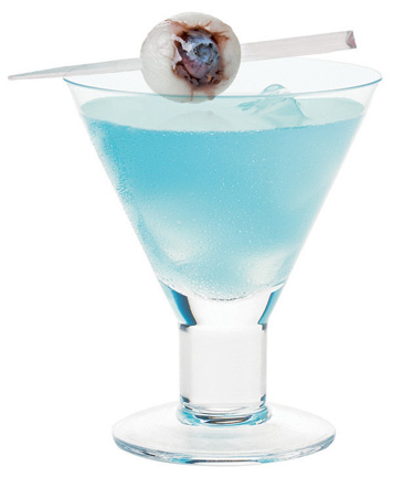 MAD EYE MARTINI now, again. when i stuble upon these gems i dont quite care that its not Halloween. so save it for the next 6 months… 1/2oz hpnotiq1oz vodka2oz lychee juice or… for the strong alcoholics the Soho for the eyeball there WAS a complicated recipe and i got too lazy to write it down. So… you shall take those cheap eyeball Halloween candies and stick a plastic sword through one. and put it on top. shake it up into a martini glass.