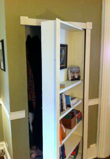 stashvault:  How to make a secret bookcase door
