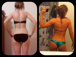 fitnessavenue:  freemindfreebody:  ktfitness:  September 2011 vs March 2012  makes me wanna work even harder.  Amazing!!
