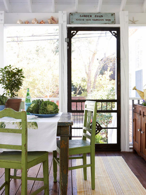 georgianadesign:  Screened porch via Better Homes and Gardens.