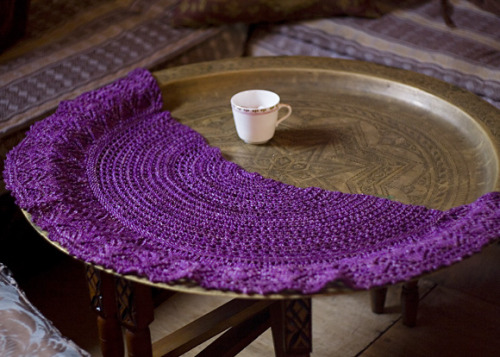 Afternoon tea shawl by Helen Stewart in Knitty