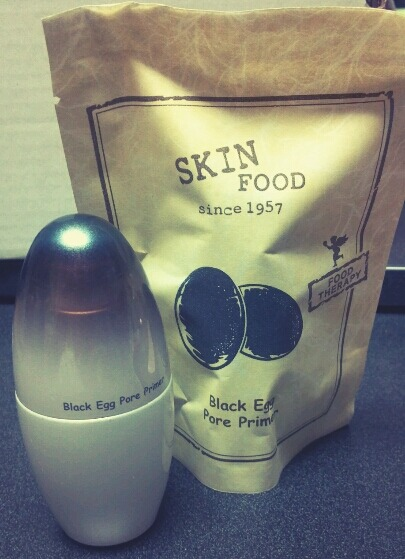 Skinfood Black Egg Pore Primer USE: Face primer. Helps smooths out skin and minimize pores before applying foundation. OVERALL: (3.5/5) It definitely helps smooth your skin out and avoid cake-y makeup, but I'm not convinced it helps minimize the appearance of pores. It does IF you apply foundation since it does effectively smooth your skin.  I WOULD purchase this again. It might not actually minimize pores, but it does help with the illusion of minimizing pores as long as foundation is applied.