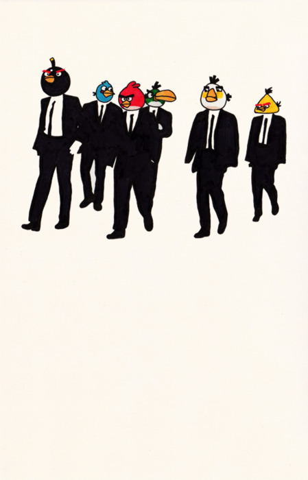 If you have never seen this before, Angry birds in suits. lol