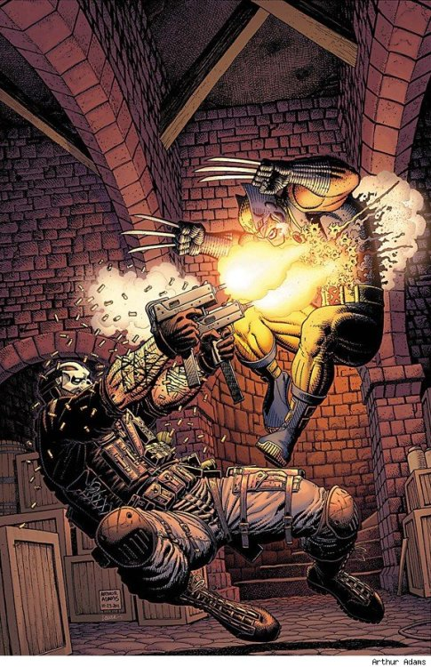 browsethestacks:  Wolverine vs Crossbones by Arthur Adams