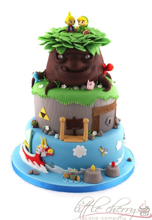otlgaming:  WINDWAKER CAKE by LITTLE CHERRY CAKE COMPANYCheck out these other Zelda-related posts:Wind Waker Print || Zelda Controller || Zelda 3D Art