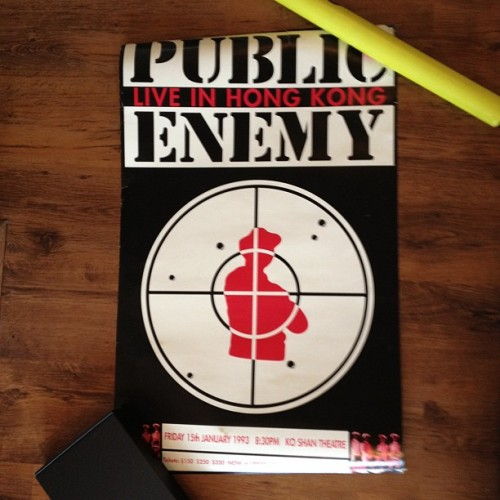 Public Enemy, live in Hong Kong 15th January 1993. #bensposters (Taken with instagram)