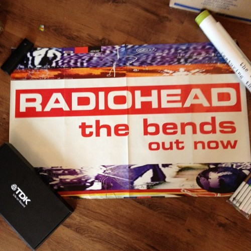 Radiohead, the bends, out now! #bensposters  (Taken with instagram)